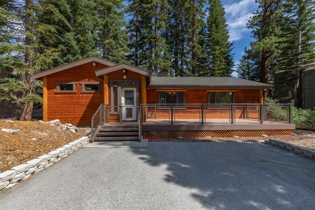 Come and see this move-in ready mountain home! The location cannot be better. On a quiet street and directly in between Mammoth Mountain's Canyon Lodge and The Village. A quick 15 minute stroll will get you to The Village Gondola and will take you straight up to the slopes. This welcoming south-facing home was completely remodeled and now has a huge mudroom with extra storage -- enough to have a ski waxing station and space to store all your gear. The living room is spacious and opens to the beautiful updated kitchen. The home's air-tight walls keep it warm in the winter and cool in the summer. Use the forced air or crank up the heat with the woodstove. Enjoy the weather on the front porch and keep the pets secured within the solid metal fence. With a sizable lot, there is plenty of room to enjoy the solitude of the backyard and possible expansion. This turn-key family home is a must see!