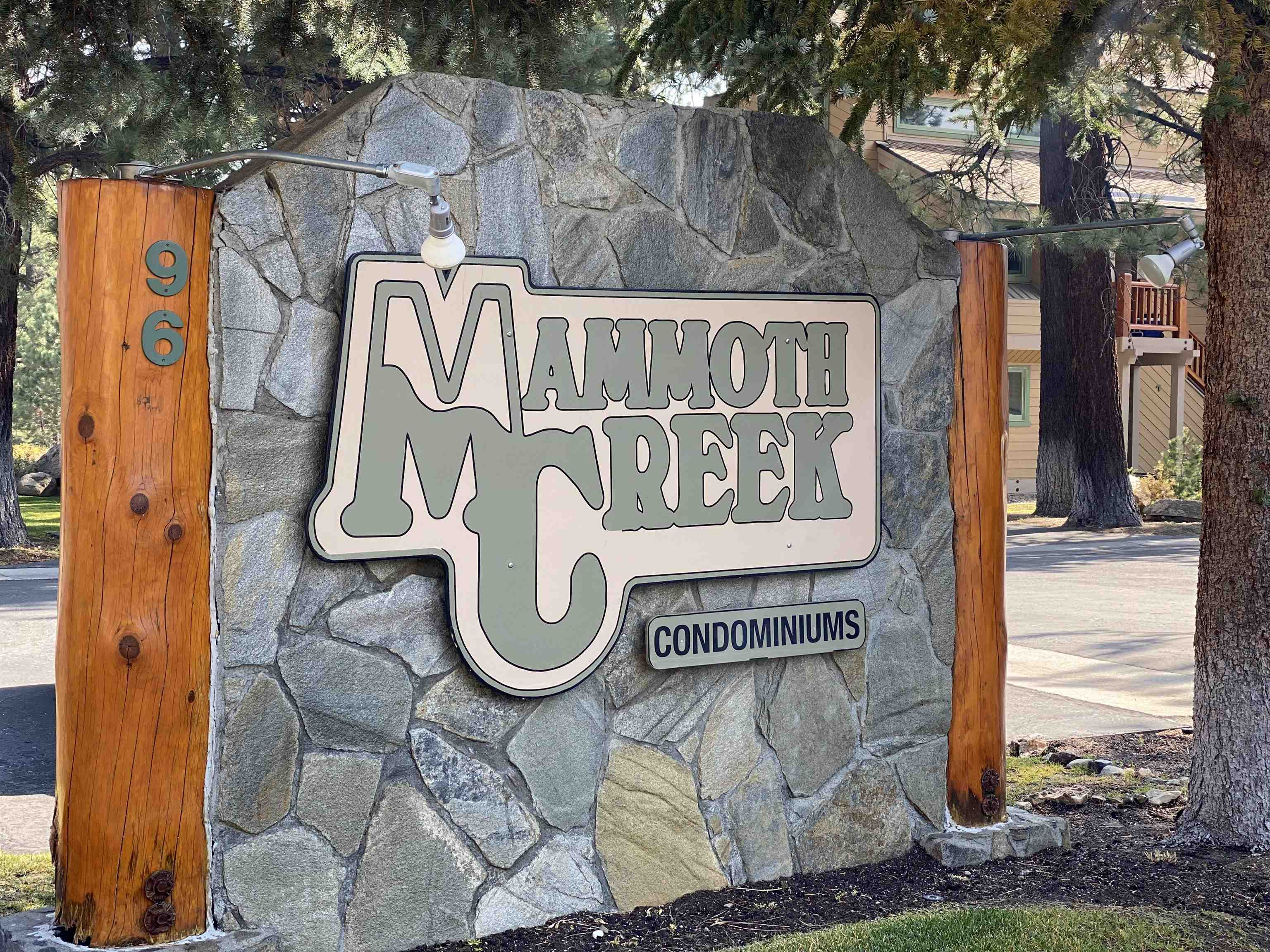 Mammoth Creek Condominiums is perfectly situated in front of Mammoth Creek with views of the Sherwin Mountains, Mammoth Mountain, Mammoth Rock, Snowcreek driving range and vast open land of nature. Imagine yourself relaxing in this spacious 2 level Mammoth Creek 2 Bedroom with a Loft and 2 full bathrooms. Curl up in the living room next to the dramatic ledger rock wood burning fireplace with vaulted ceilings and an open floor plan. A well situated kitchen with engineered simulated wood flooring throughout the main level great room.  Primary bedroom is located on the Main level and the 2nd bedroom is located on the upper level with a full bathroom.  The washer and dryer are included and located on the 2nd level. Mammoth Creek Association has a tennis court, pool, 2 spa's, sauna, bike racks and is a beautifully landscaped and a well maintained complex. Walk with your fishing pole to the creek, the park and soon to be ice-skating rink. Walk to the shuttle stop and adjacent to the Town bike path. Close to Snowcreek golf course, restaurants and shopping. A perfect location for all!