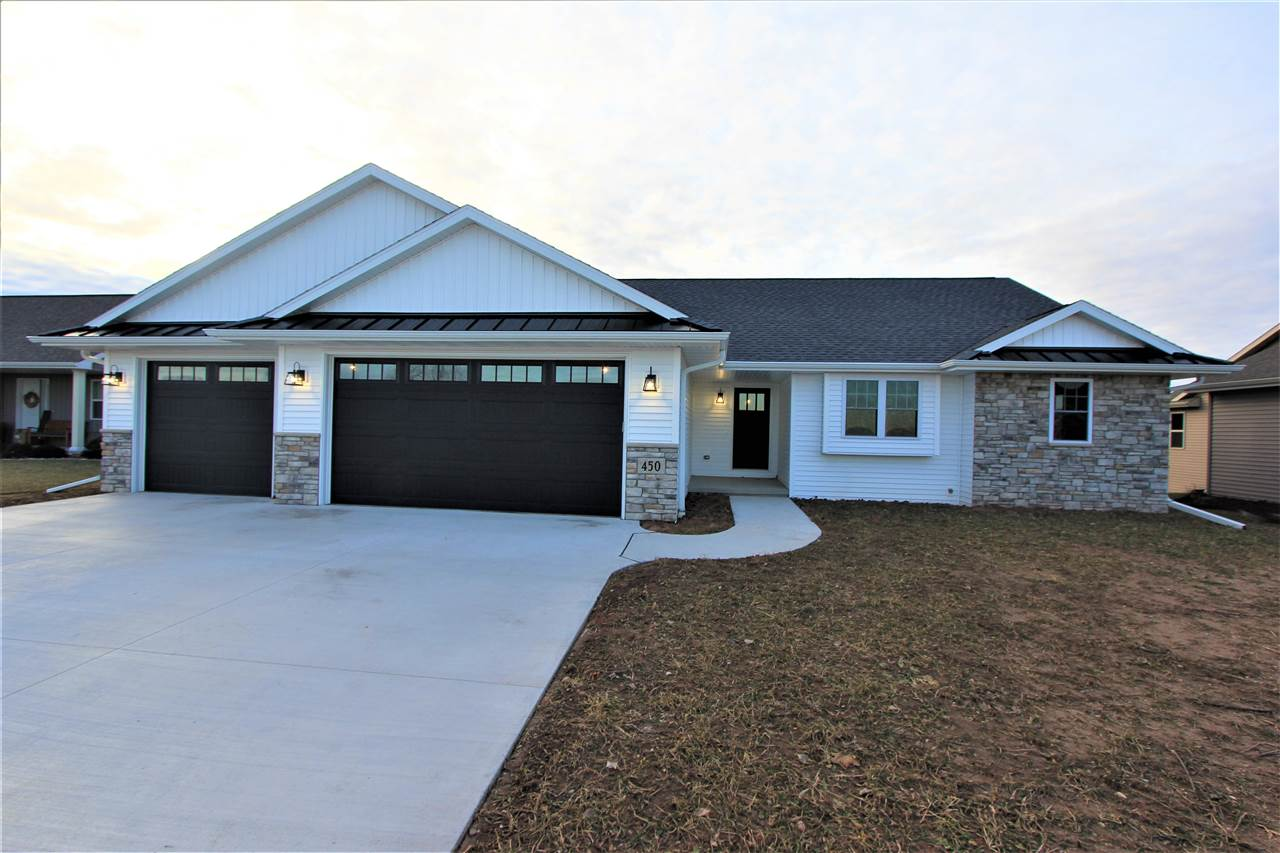 QUALITY BUILT HOME BY PAUL VANDE HEI CONSTRUCTION!! This hard to find Wrightstown split bd open concept ranch has all the bells and whistles! Completed in late 2019 this gorgeous ranch features foyer entry, spacious 3-car attached garage w/ floor drains, cathedral ceilings w/ comfy gas fireplace, spacious bedrooms including lg master suite and huge walk-in closet, awesome kitchen design w/ lg island and pantry. Lower level is stubbed for full bath, has full exposed windows across the back, ready to finish. A FOCUS ON ENERGY HOME! Many upgrades throughout... double hung windows, etc.