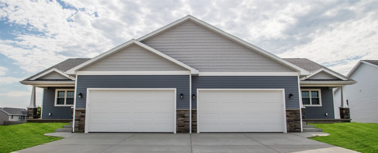 Located in a beautiful new subdivision that backs up to quiet farm fields. Watch wildlife as you walk or bike the trail bordering the neighborhood. Property features open concept kitchen with solid maple cabinets and stainless steel appliances and a living room with vaulted ceilings. Master BR includes tray ceiling and attached master bath with a huge walk-in closet. Front load washer and dryer included. Zero lot line duplex - homeowners responsible for lawn care and snow removal. No HOA. Available May 2019!