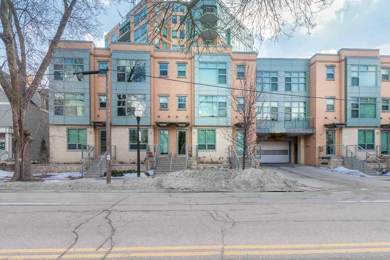 Great location! This Nolen Shore townhouse is in the heart of downtown, close to Lake Monona & the Capitol. A private street entry brings you to the 1st floor (also accessed from the garage w/2 parking spots!) which features living space, full bath + lndry rm. Upstairs is a sweet, open concept space w/gas burning FP & a nice kitchen w/beautiful finishes + pantry. A glass door leads to a private patio overlooking the condo's courtyard. The 3rd level has 2 ensuite bdrms, 1 w/WIC. Separate storage unit. Access to guest suite, fitness rm, etc. You'll love the perks of downtown living!