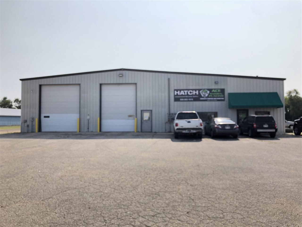 88' x 80' space with office and office bathroom and 2nd bathroom in the shop space. 6- 16'x 12' overhead garage doors, floor drains and 2 drive through bays. Parking lot space available. $3,800/ month rent.