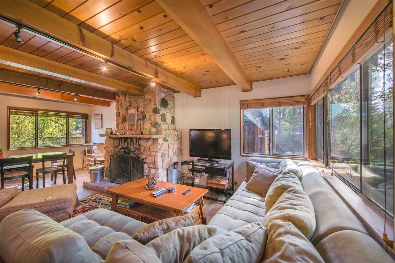 2 units that produced on average over $4,241 per month over the past 12 months. Located in one of the most desired neighborhoods in North Lake Tahoe, 465 Brassie Avenue overlooks the 9th fairway at the historic Old Brockway Golf Course which was rated in the top 9-hole courses in the country by the Golf Channel. This charming property features the main house with 3 beds, 2 baths, laminate hardwood flooring, beautiful floor-to-ceiling rock fireplace, laundry room, and new trex decking at the sunny back yard.