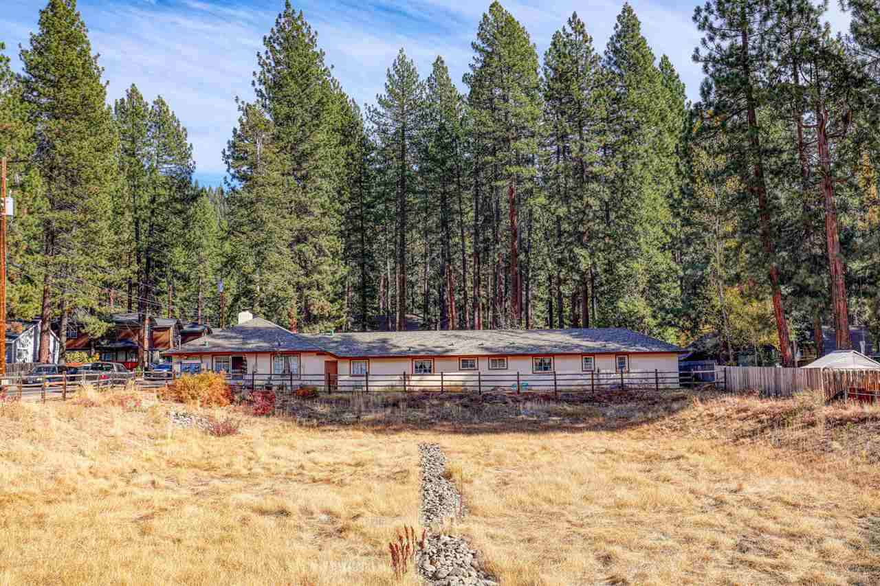 Single level 8-plex two blocks from Lake Tahoe. Seven studio units with full size kitchen appliances. One 1 bedroom/1 bath end unit has a fireplace, carport, laundry, back door overlooking fenced open space (parcels owned State of CA). Paved parking and 1 car port.  New roof, replaced all doors, insulated attic, updated 5 of the units since owning. Large storage shed in corner of south/east fenced area. Near beach, parks, bus, shopping, library, school. Great income property with full time tenants!