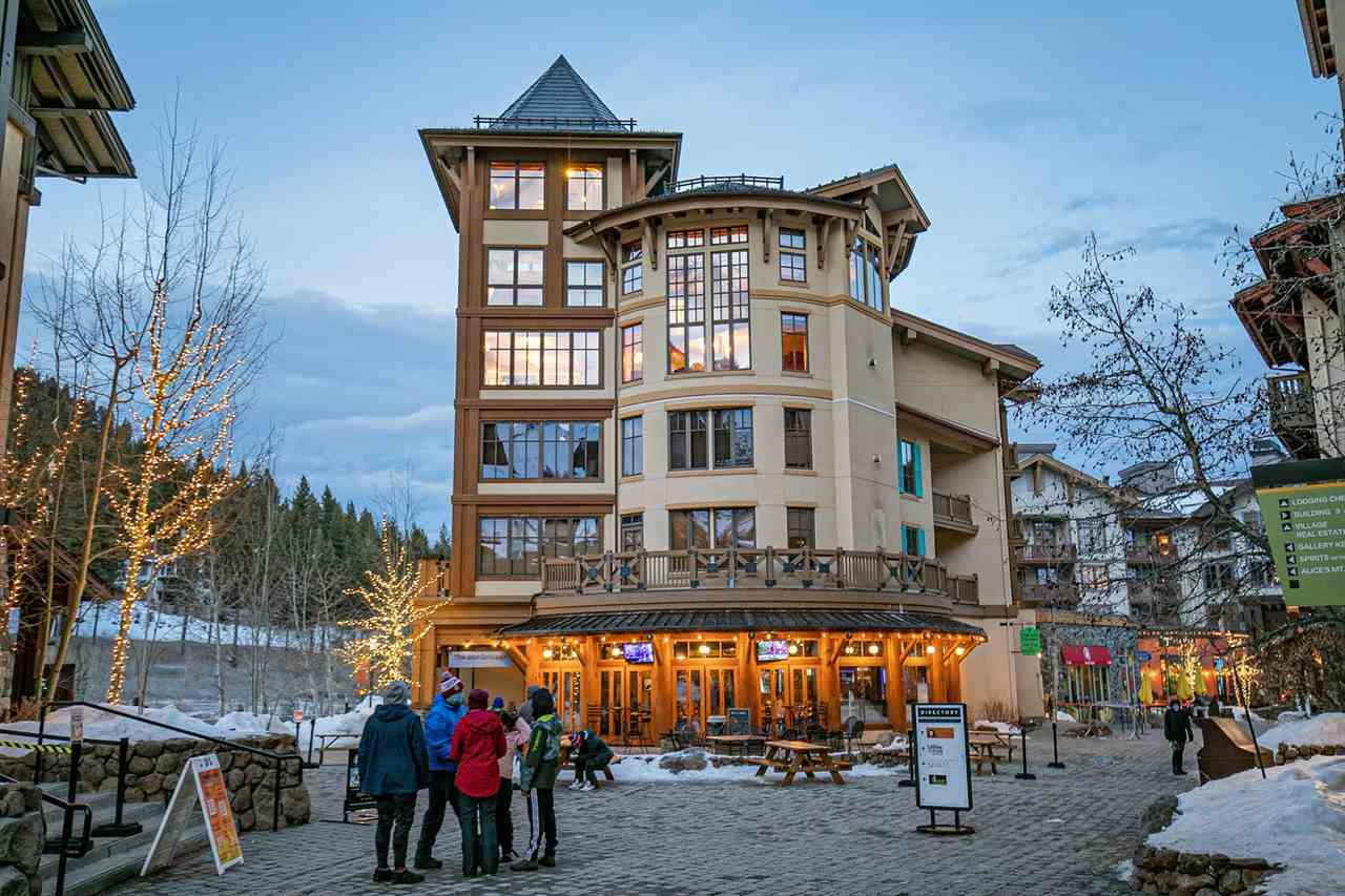 This fully custom 2-story penthouse is unlike any other unit in Squaw Village. Massive vaulted ceilings & 3 stories of windows, this property boasts panoramic views of Tram Face and KT-22. Exceptional stone masonry combined with rich hardwood flooring, and wrought iron touches make this a one-of-a-kind ski-in-ski-out unit. State-of-the-art Lutron Lighting, push button retractable window coverings & draperies, steam showers & mosaic tilework are just a few of the many custom features in this luxury property.